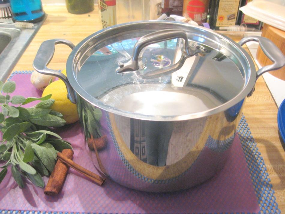 All Clad 4 quart pot with lid