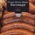 links of hot Italian sausage