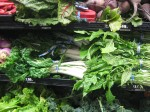 produce displace of winter greens
