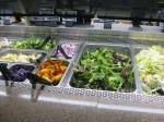 green on the salad bar