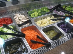 vegetables on salad bar at Harris Teeter
