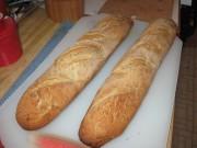 Freshly baked oat flour bread