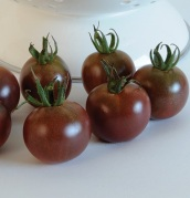 Black Cherry cherry tomatoes.