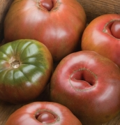 photograph of Black Krim tomato fruit from Johnny's Select seeds.