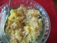 mashed new potatoes