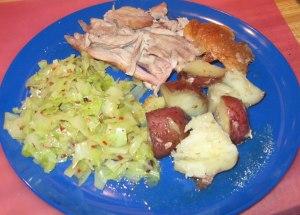plate of turkey