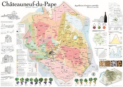 Châteauneuf-du-Pape Appellation Map