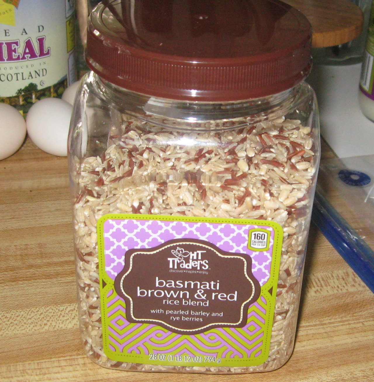 jar of mixed rice and grains