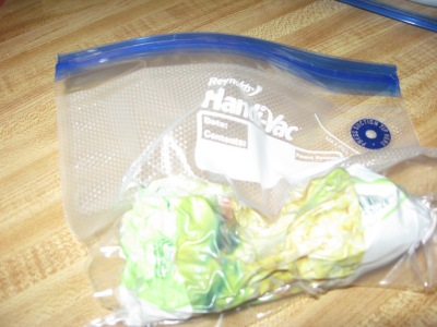 corn in vacuum sealed bag