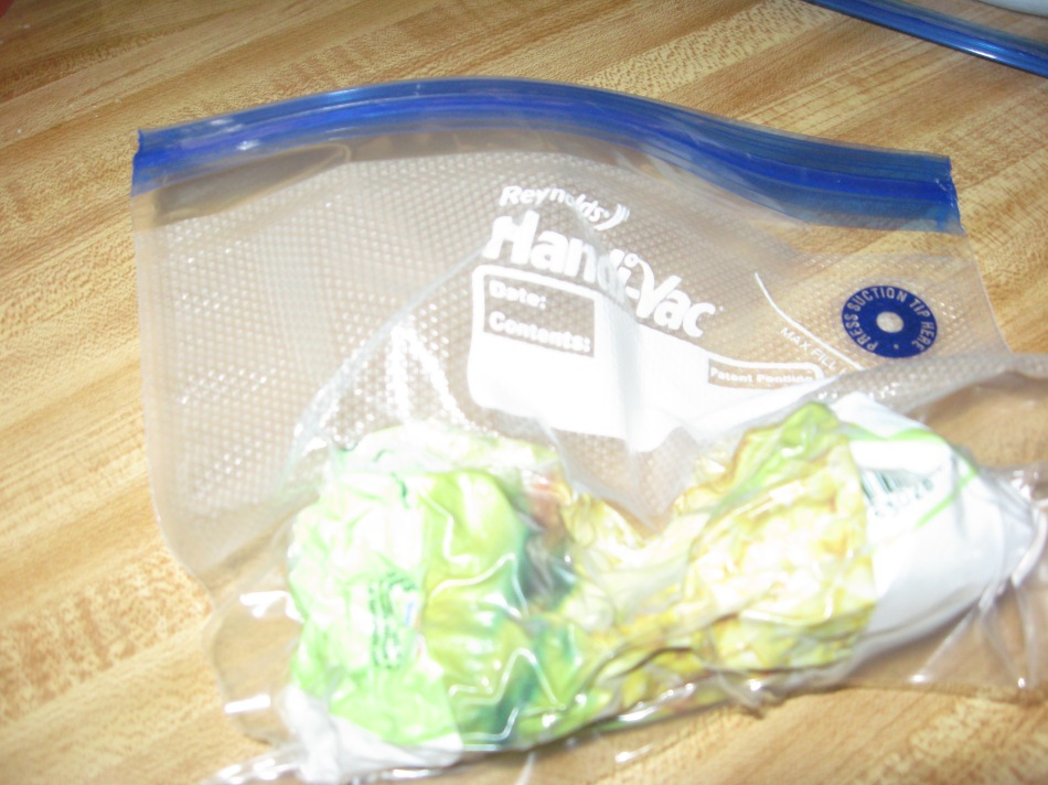 corn in vacuum sealed bag