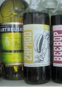 Zaphod liqueur bottle